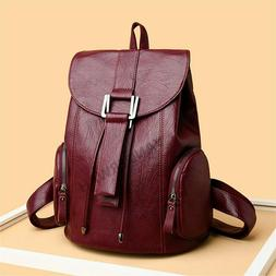 2021 Women Leather Backpacks High Quality Ladies Bagpack Lux