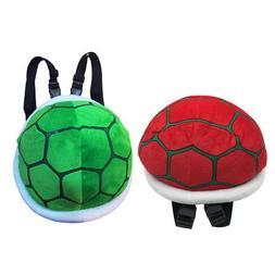 2pcs Super Mario Turtle Shell Plush Bagpack Koopa Troopa Stu