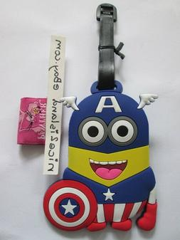 avenger Minion captain America luggage tag baggage tag fo ba