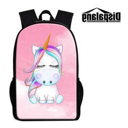Cartoon Unicorn Backpack for Girls School Bag Bookbag Cute K