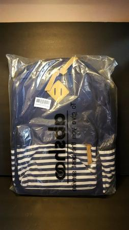Abshoo Causal Canvas Navy Stripe Backpack Everyday Bag New