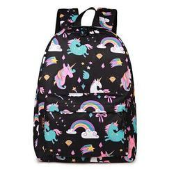 Cute Women Backpack Cartoon Unicorn School Bag For Teenager