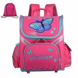 Girls School Backpacks Children School Bags Cat Butterfly Ba
