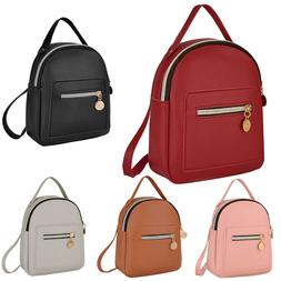 Girls Women Small Bagpack Mini Backpack PU Leather Shoulder