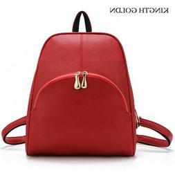KINGTH GOLDN High Quality Pu Leather Backpacks for Teenage G