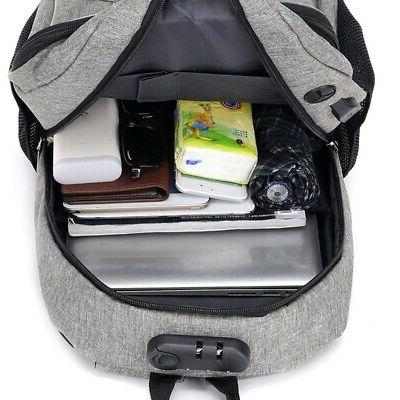 Anti Theft USB Charged Laptop Bagpack Travel for Me C9Q1