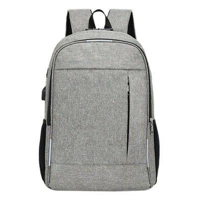 anti theft man backpack usb charged laptop