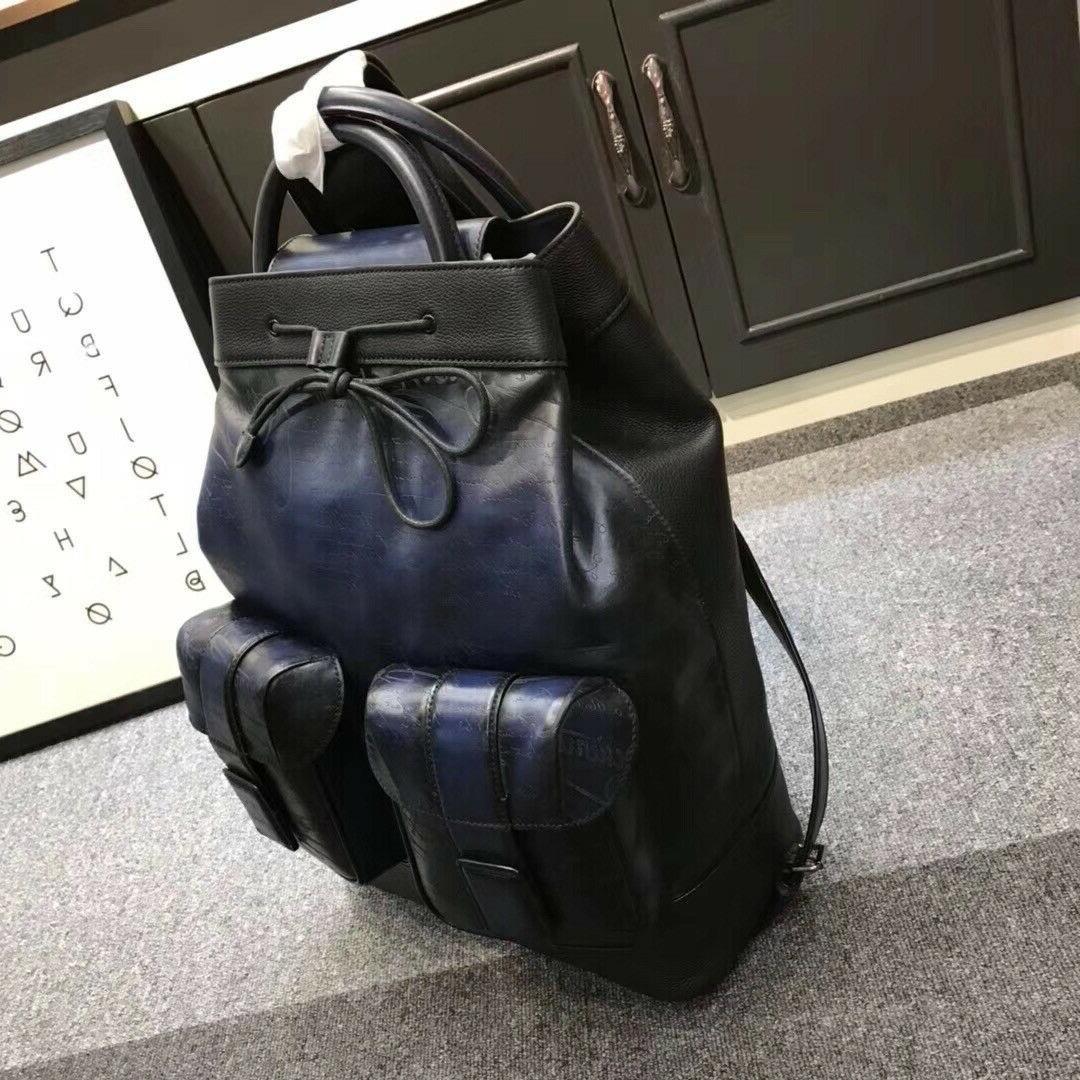 Authentic BERLUTI Leather Bagpack Patina
