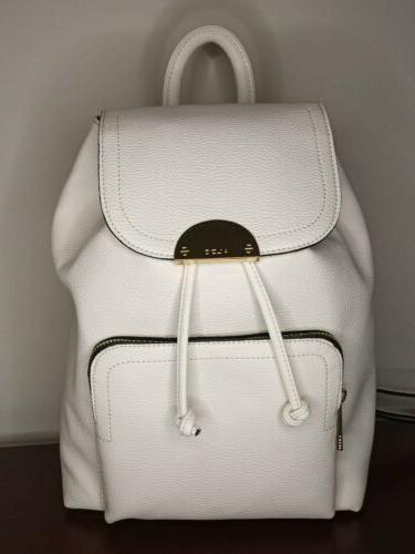 bag purse cartera mini leather backpack white