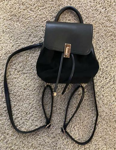 bag purse mini leather suede backpack bagpack