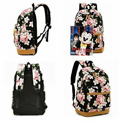 "BLUBOON School Backpack Teen Girls Bookbag, Size 6.5"""