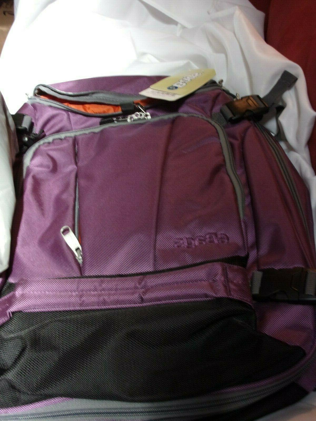 eggplant purple travel laptop daypack bagpack bag