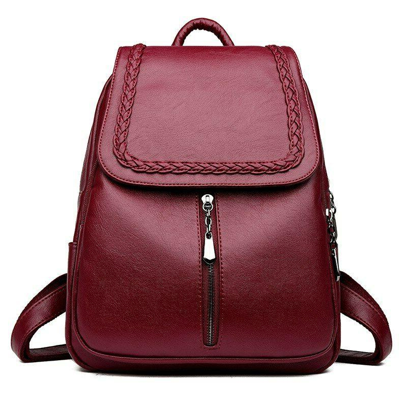 Female Backpack Women Leather School Bag Fashion Designer Ba