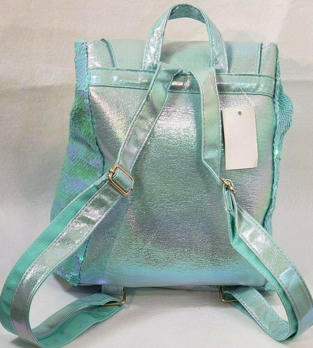 Kids Backpack Blue Green Drawstring Tail Fin