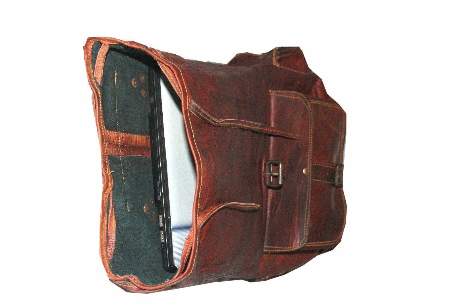 Leather Bagpack Women Genuine Brown School