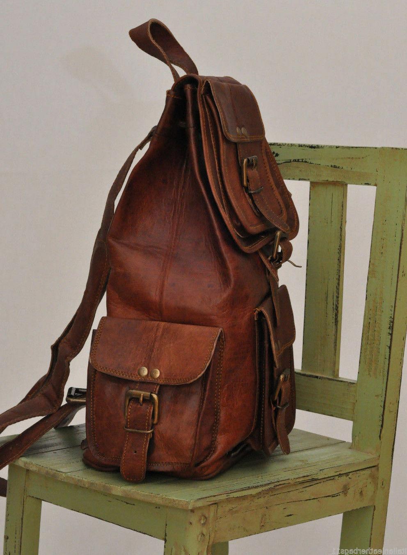 Leather Women Shoulder Genuine Brown Brown School Backpack