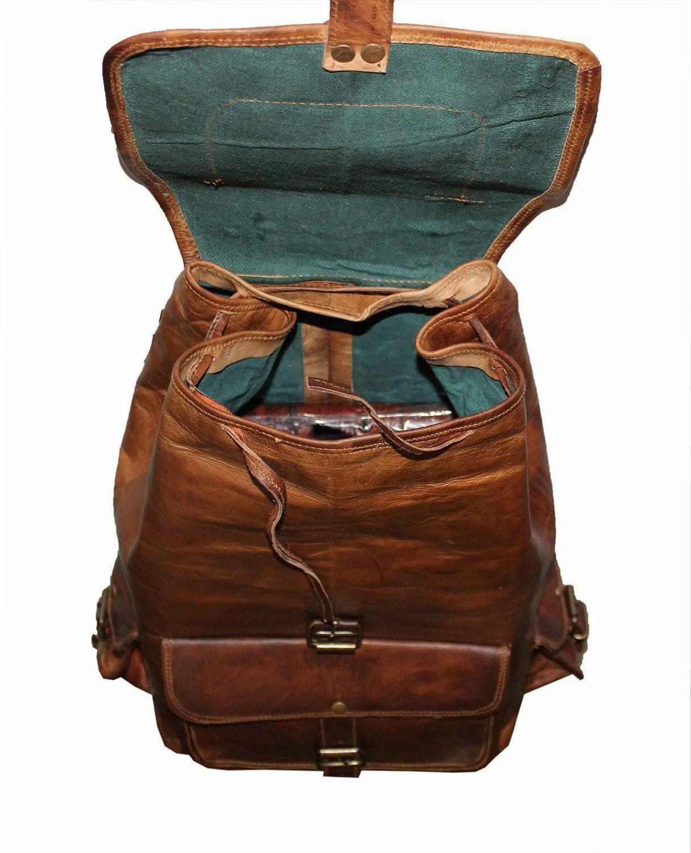 Leather Women Shoulder Genuine Brown Travelling School Backpack