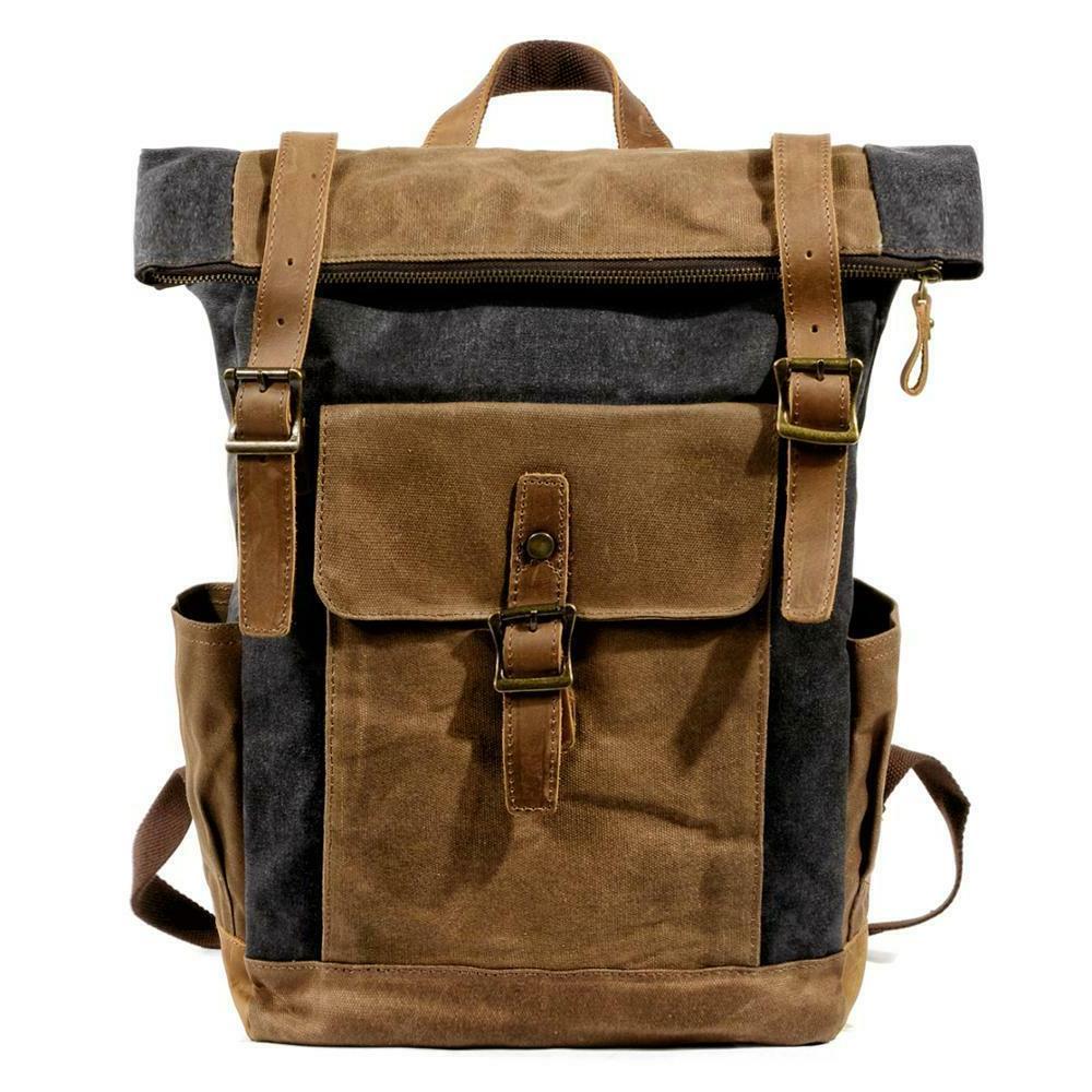Men Leather Travel Waterproof Daypacks