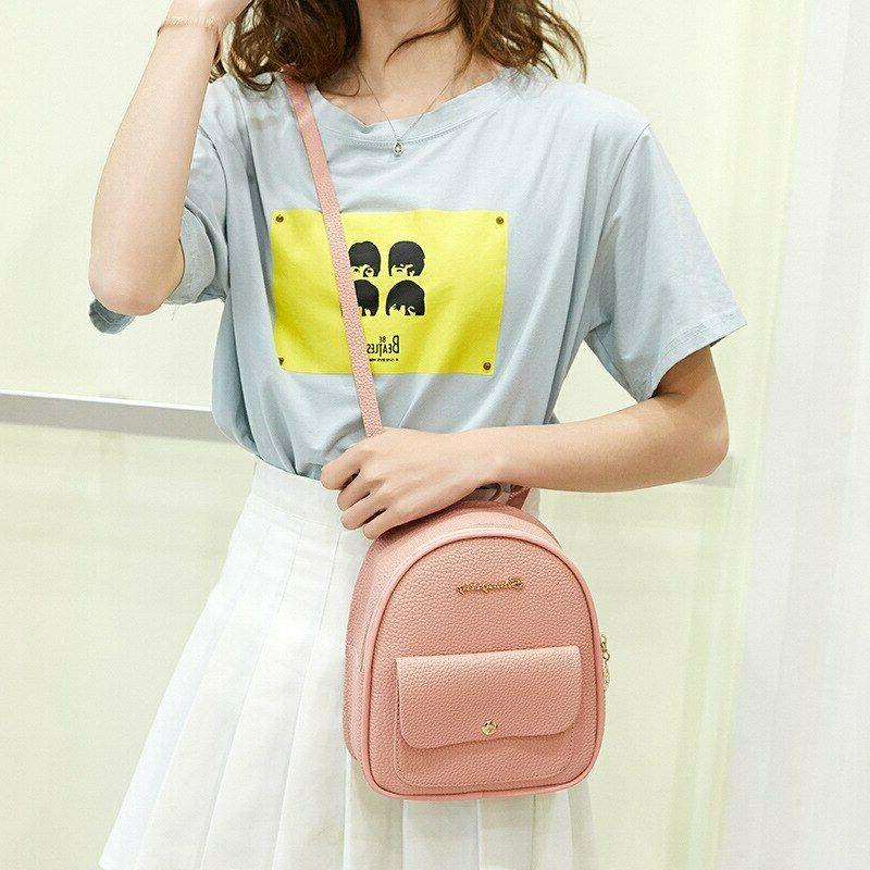 Mini Leather Shoulder Multi-Function Small Bagpack