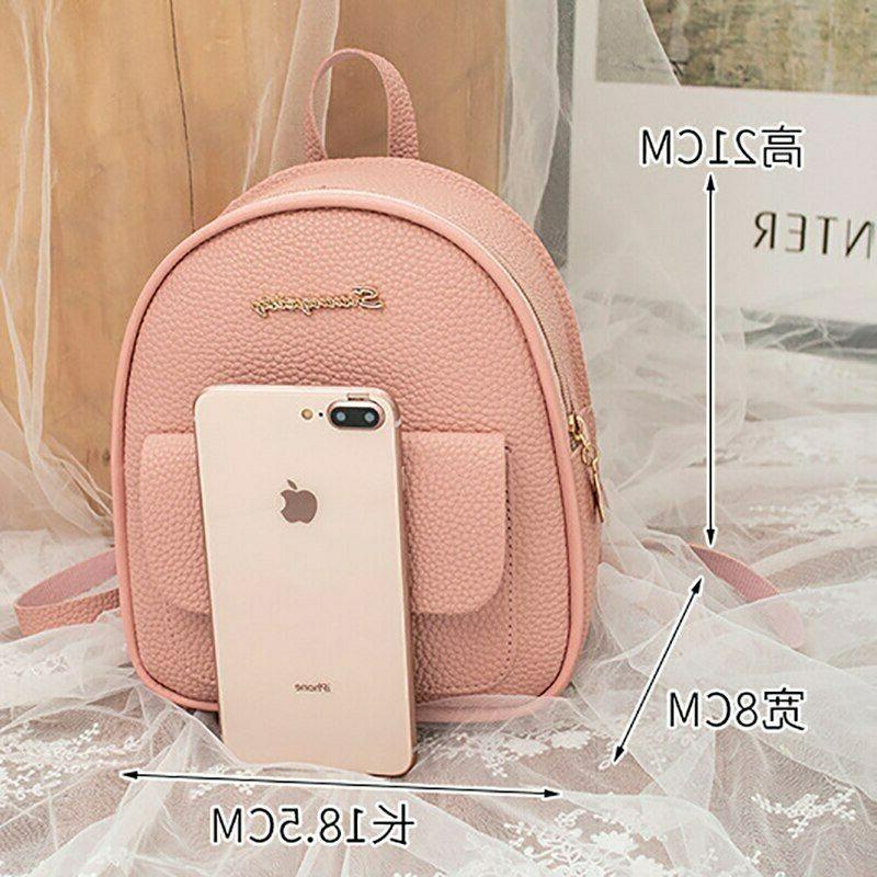 Mini Backpack PU Leather