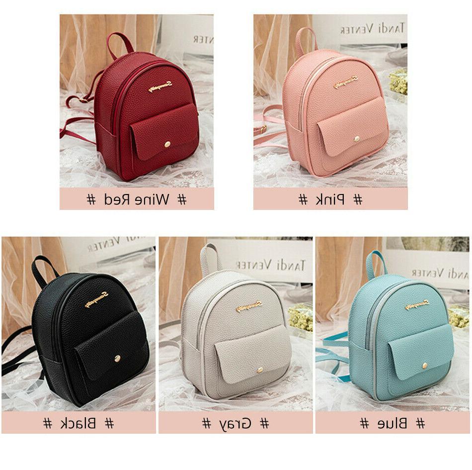 Mini Leather Shoulder Multi-Function Bagpack
