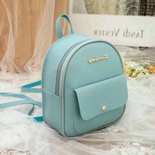 Mini Leather Shoulder Bag Multi-Function Small Bagpack