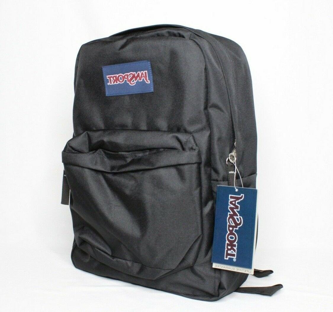 JanSport Break Black Bagpack