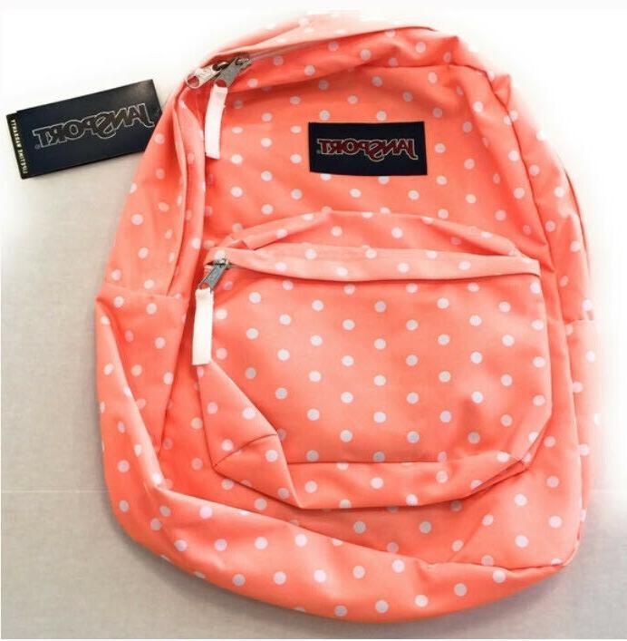 superbreak backpack coral peaches nwt 100 percent