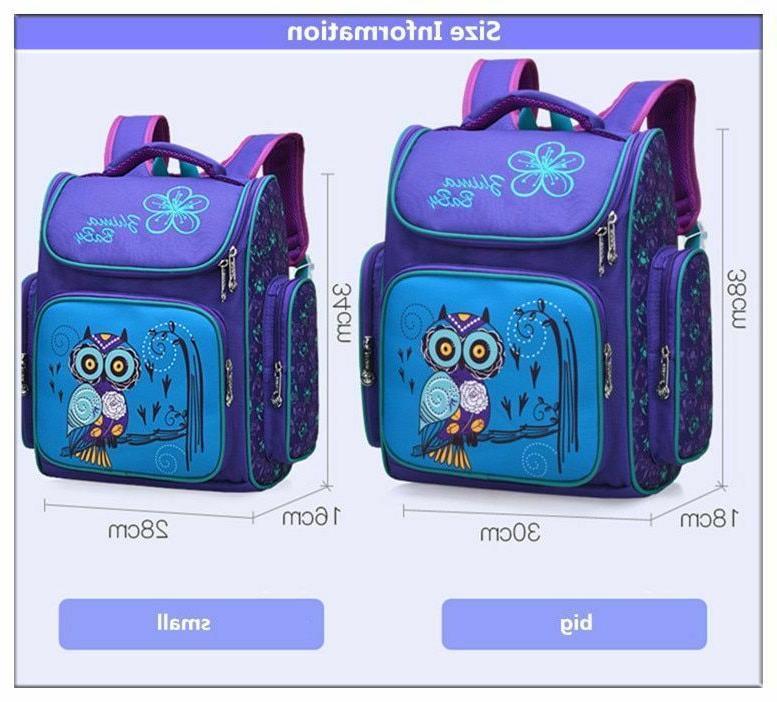 Unisex Kids Bags Book Animal Print Elementary Schoolbags