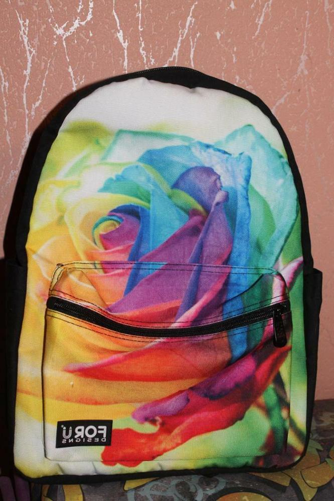 Women Rose Girls School Book Bag