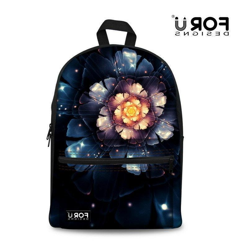 Women Floral Rose Backpack Girls Bagpack School