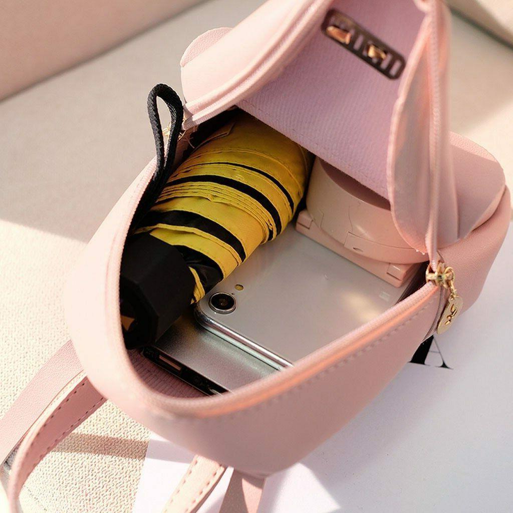 Women's Mini Backpack Luxury PU Backpack Cute Graceful Bagpack Sm