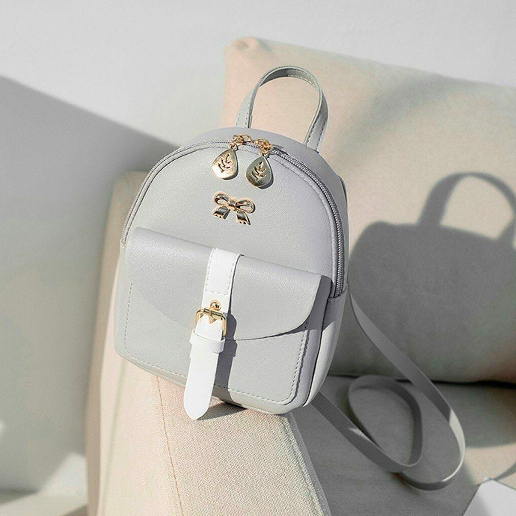 Women's PU Leather Cute Graceful Bagpack