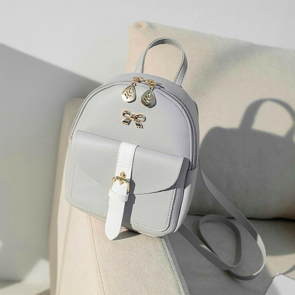 Women's PU Leather Kawaii Backpack Cute Graceful