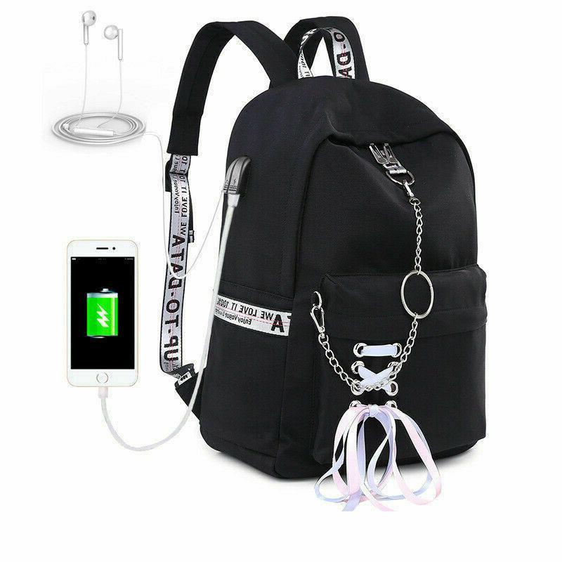Waterproof Bags For Girl USB Charge Travel Bagpacks
