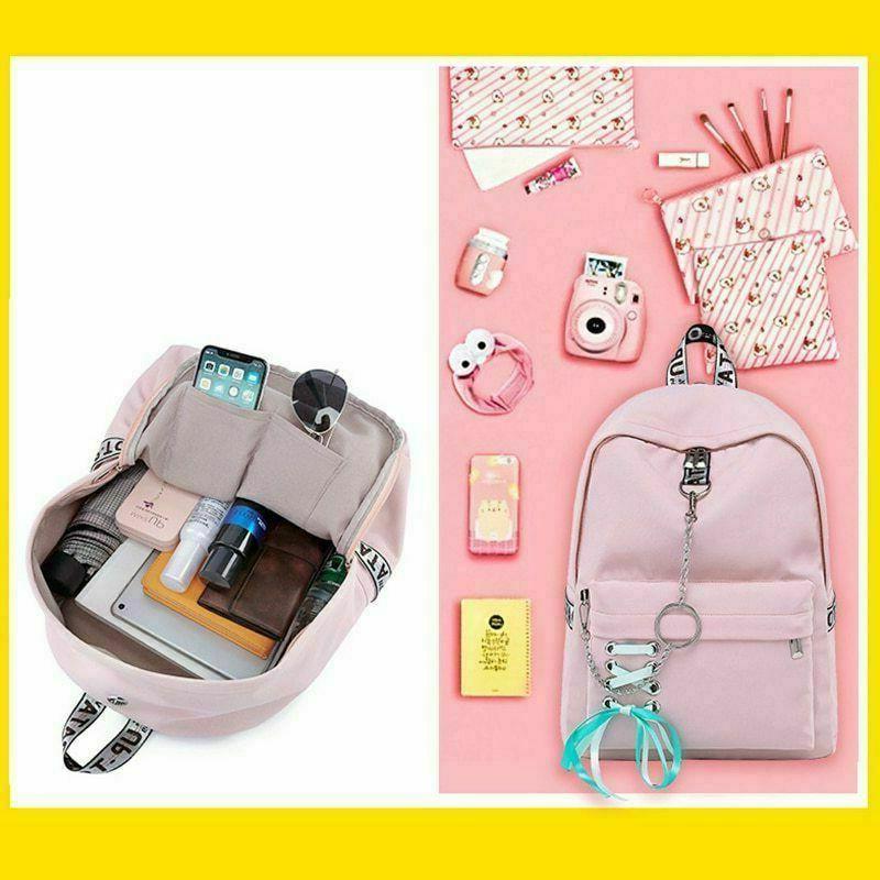 Waterproof Backpack Women Bags For Girl USB Charge Travel Bagpacks