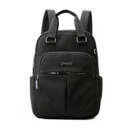 Large Capacity Black Backpack Men USB Charging Bagpack Soft