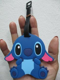 Lilo stitch blue luggage tag baggage tag for bagpack suitcas