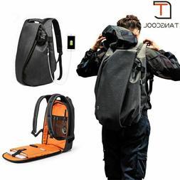 "Men Backpack For Laptop 17.3"" Waterproof Travel Backpack USB"