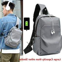 Men Bag Shoulder Crossbody Cross Body Bag Chest Bagpack Mess