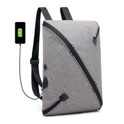 Men Laptop Backpacks USB Charge Business Rucksack Travel Bag