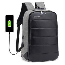 Men's Laptop Backpack USB Charge Business Rucksack Travel Ba
