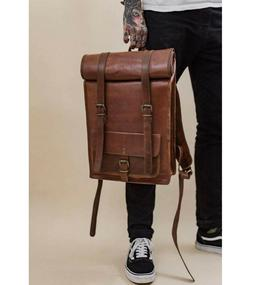 Men's NEW Vintage Genuine Leather Laptop Backpack Leather