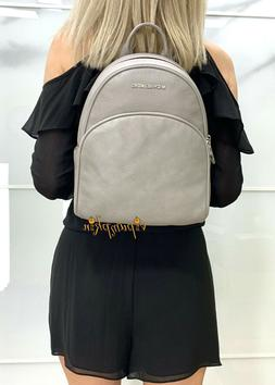 MICHAEL KORS ABBEY MEDIUM BACKPACK LEATHER CEMENT