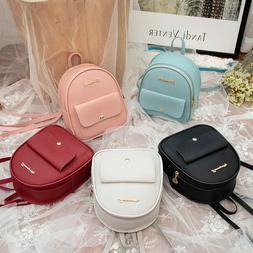 Mini Backpack Women PU Leather Shoulder Bag Girls Multi-Func