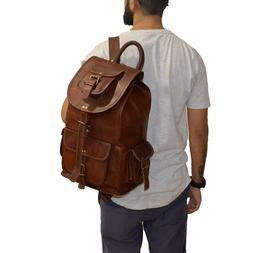 Leather Bagpack Women Shoulder Genuine Brown Purse Travellin