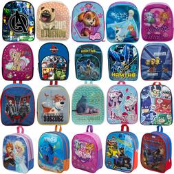 NEW KIDS CHILDRENS TODDLERS CHARACTER BACKPACK RUCKSACK LUNC