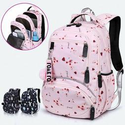 New Large schoolbag cute Student School Backpack Printed Wat