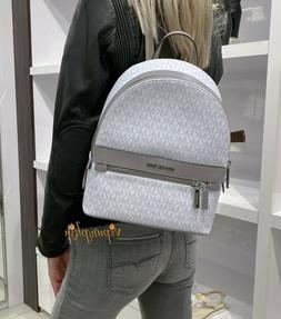 NWT Michael Kors Kenly Medium Backpack in MK Signature Canva