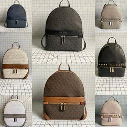 Michael Kors Kenly Signature MK Medium PVC Leather Backpack